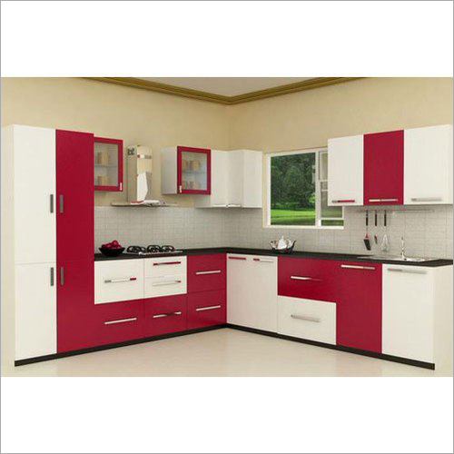 PVC V Shaped Modular Kitchen