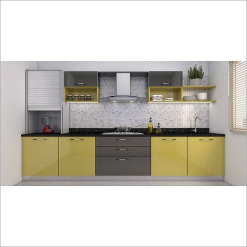 Straight Wooden Laminated Modular Kitchen