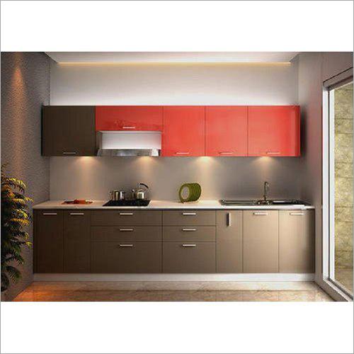 Straight MDF Modular Kitchen