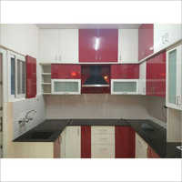 PVC U Shape Modular Kitchen