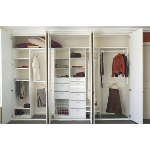 White Teak Wood 6 Door Wardrobe