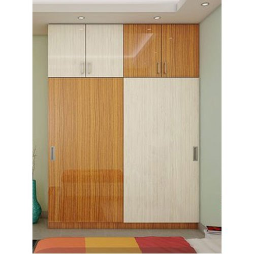 Sliding Laminated Wooden Wardrobe
