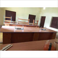 Brown Plywood Science Laboratory Table