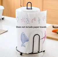 Kitchen Paper Towel Holder, One-Handed Tear Paper Towel Container Bathroom Toilet Tissue Paper Roll Storage Holder Stand
