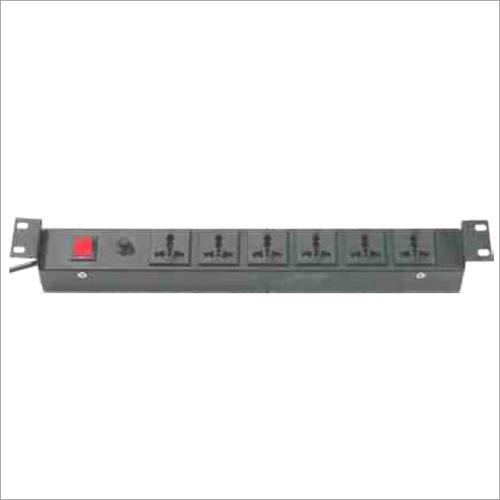 19 Inch Horizontal 6 Socket British Flat Pin 6-13 Amp Universal Power Distribution Unit