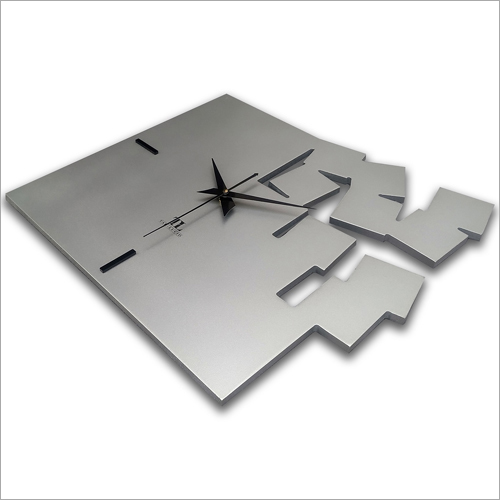 12 Inch x 13 Inch TAD-LUCID Square Analog Wooden Wall Clock