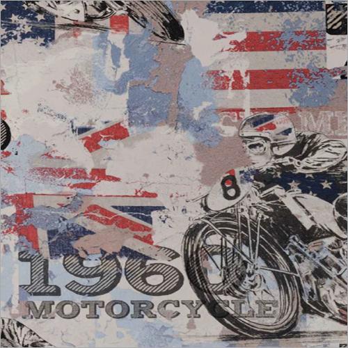 Motorcycle Printed 3D Wallpaper