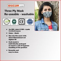 Printed & Reusable Face mask WHO/CE Certified