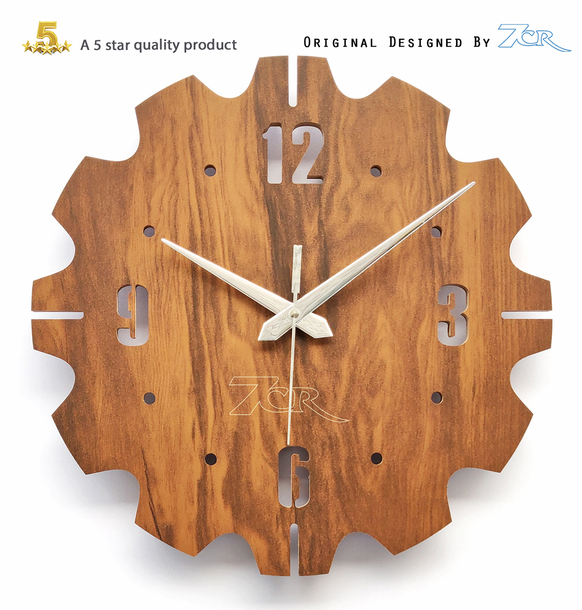 Alfa Shape Wall Clock