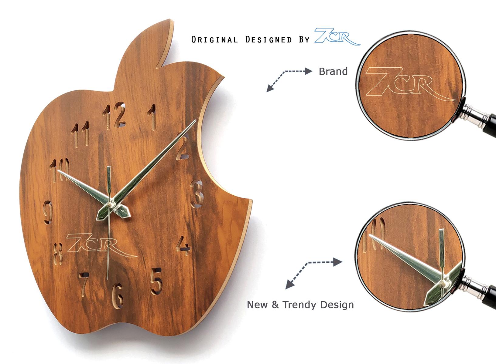 Apple Shape Wall Clock