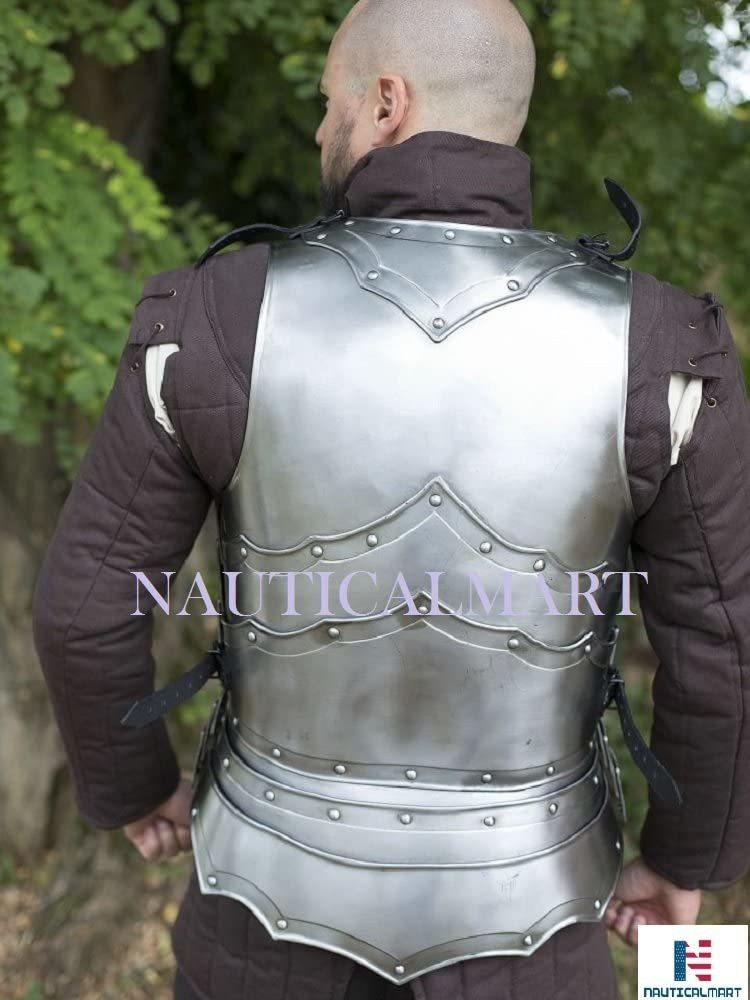 Nauticalmart Larp Steel Cuirass Balthasar Front & Back Chestplate Armor With Braces