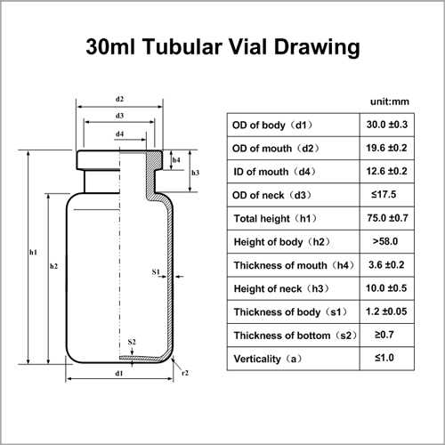 30ml Tubular Vial CN