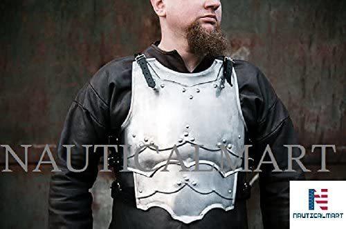 NauticalMart Armor Warrior Mercenary - LARP Steel Cuirass - Chest & Back Armor