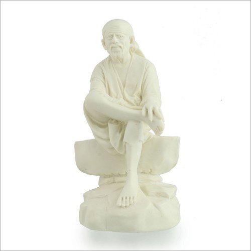 White Plain Marble Sai Baba Statue