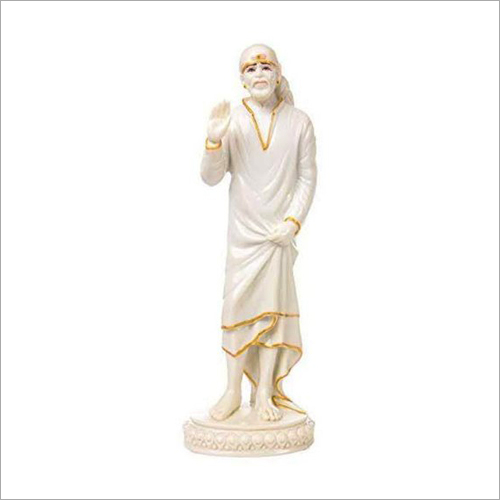 Free Standing White Marble Sai Baba Statue