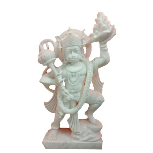 White Marble  Lord Hanuman Ji Statue