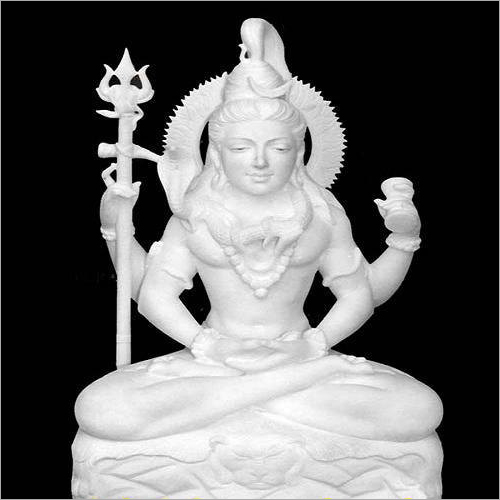 White Marble Lord Shivji Statue