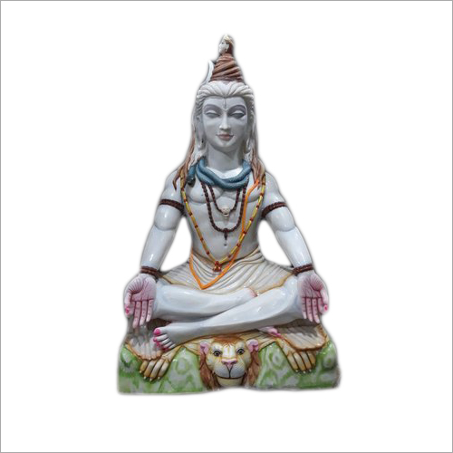 Polished Marble Lord Shivji Statue