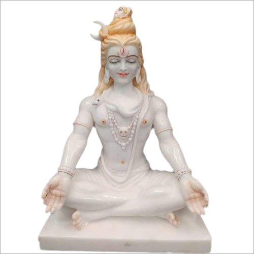 White Marble Mahadev Ji Statue