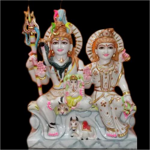 Shiv Parivar Marble Statue