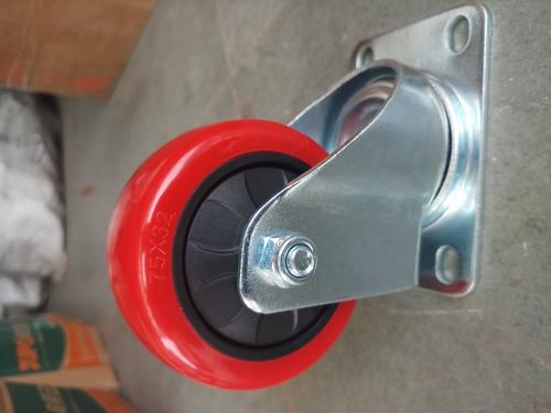Red Swivel Caster Wheel