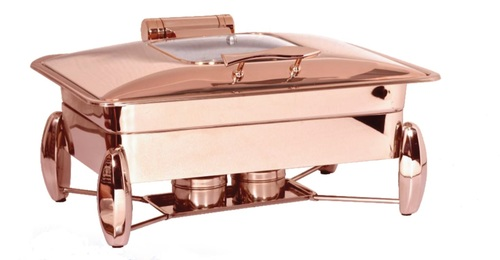 Chafing Dish Rect. Rose Gold Premium with Breaking System
