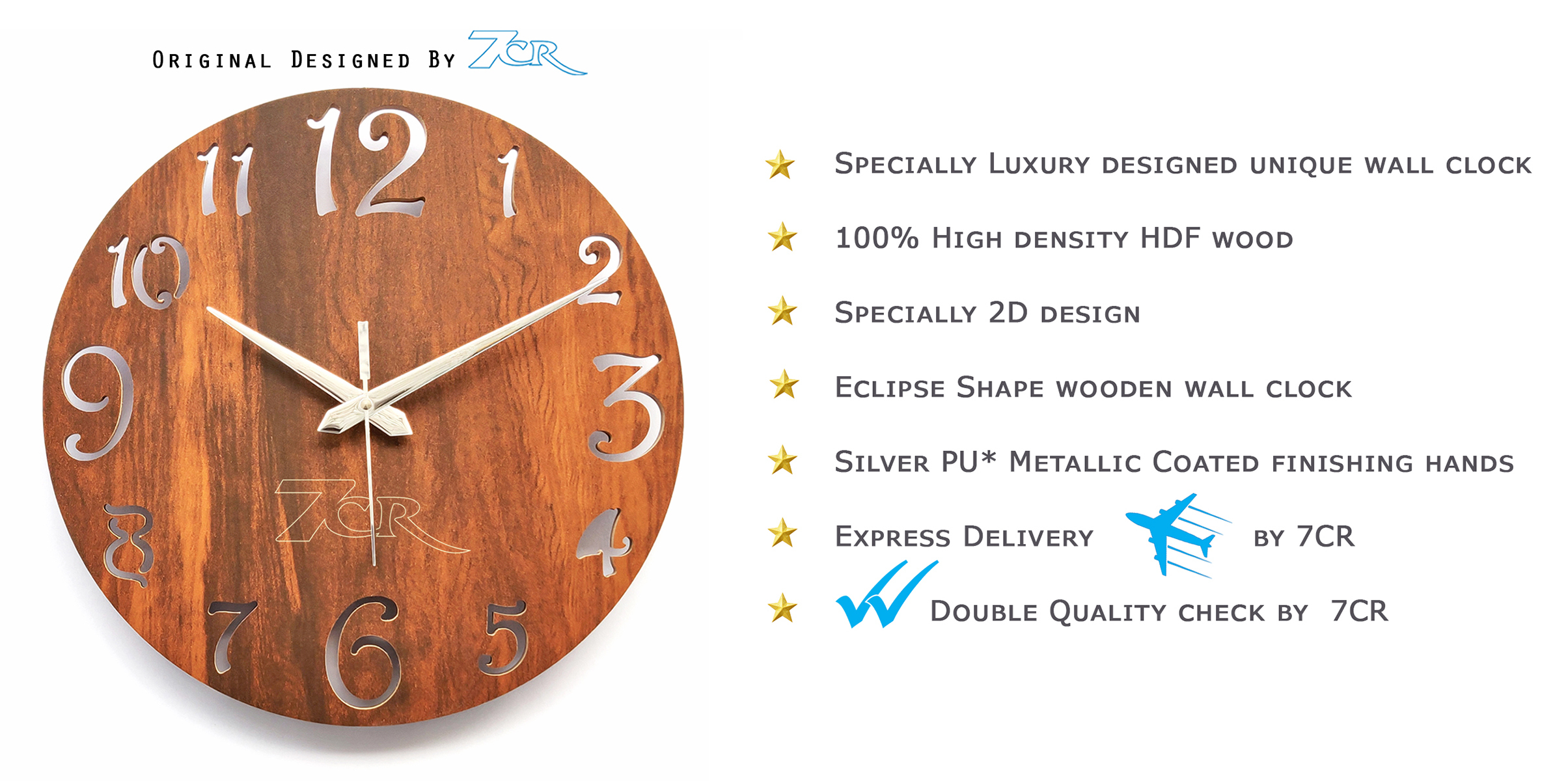 Small Eclipse Wall Clock