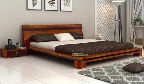 Melisandre Low Floor Double Wooden Bed