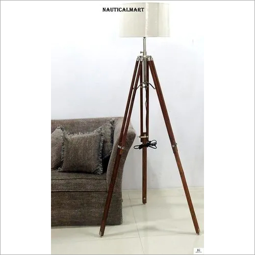 Vintage Classic Teak Wood Tripod Floor Lamp Nautical Floor Home Decor Lamp Set Of Two Manufacturer Supplier Exporter