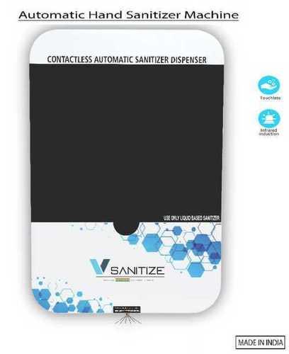 White Automatic Sanitizer Dispenser