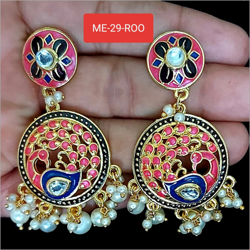 Peacock Artificial Earrings