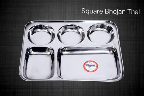 Stainless Steel Square Bhojan Thali