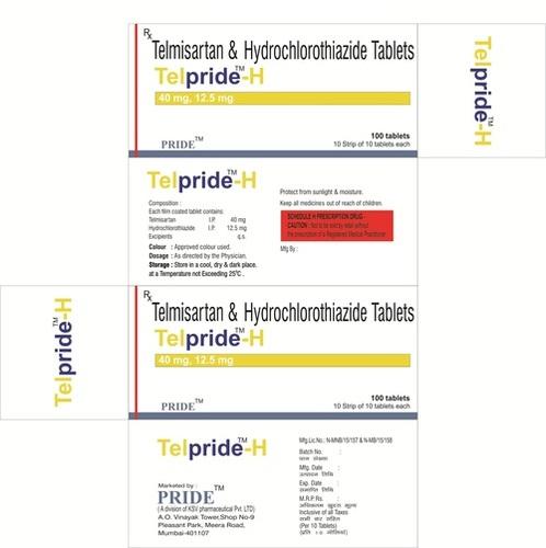 Telpride H 40mg  (Telmisartan + Hydrochlorothiazide)