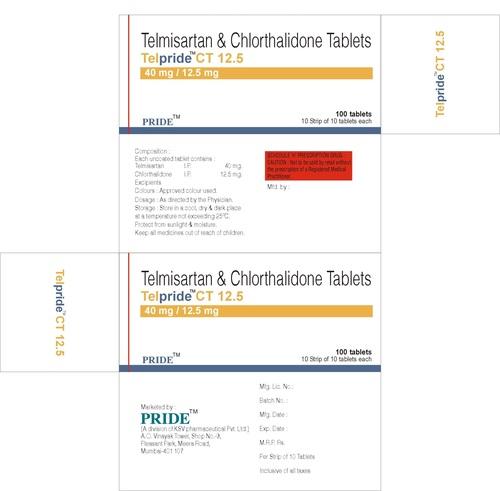 Telpride Ct 12.5 (Telmisartan + Chlorthalidone)