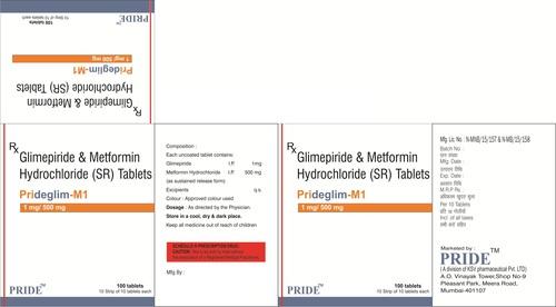 Prideglim M1 mg (Glimipride + Metformine)