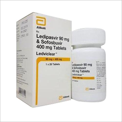 Ledviclear Tablet (Ledipasvir 90 mg & Sofosbuvir 400 mg) By abbott