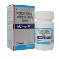 Myhep All Tablets ( Sofosbuvir 400mg & Velpatasvir 100mg Tablets - Mylan)