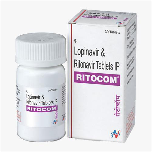 Ritocom Tablets (Lopinavir (200 mg) Ritonavir (50 mg) - Hetero )