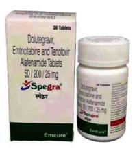 Spegra Tablets (Dolutegravir 50mg,Emtricitabine 20mg,Tenofovir Alafenamide 25mg )