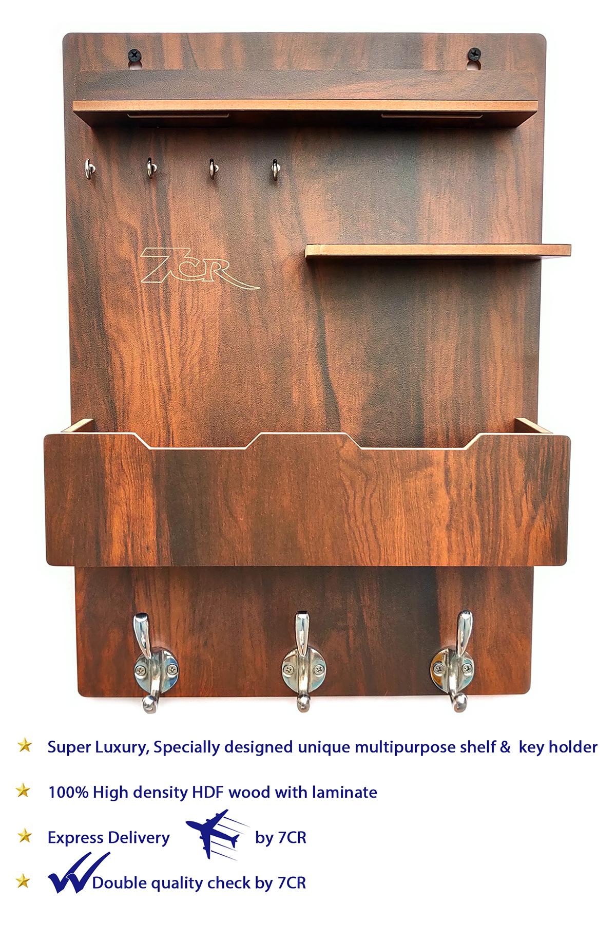 3 Hook Multipurpose Key Holder