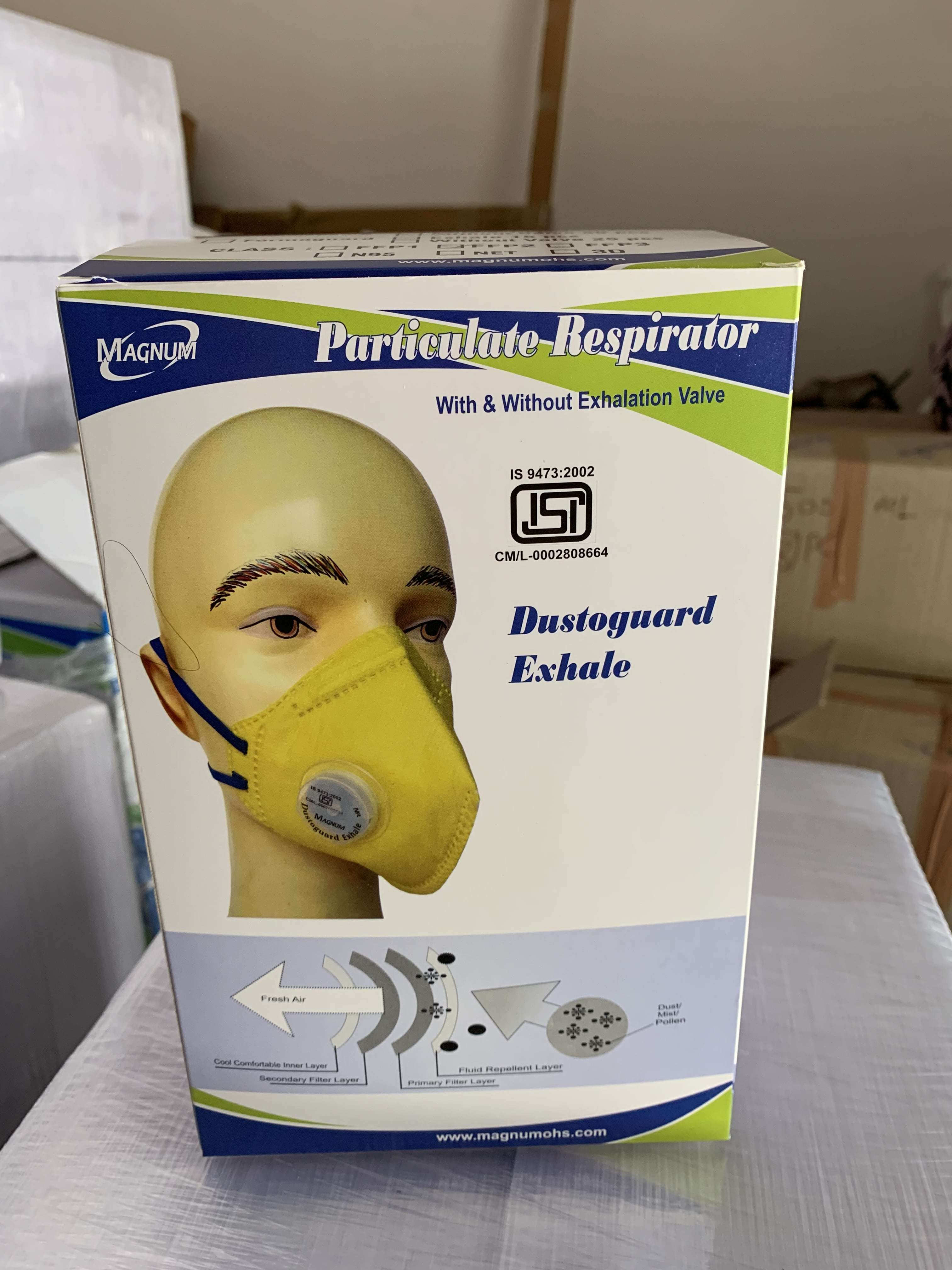Magnum N95 Mask with Expiratory Valve