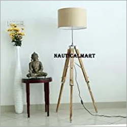 Modern Contemporary Tripod Floor LAMP with Fabric Brown Shade by NAUTICALMART