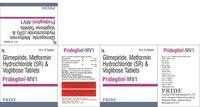 Prideglim Mv1 mg (Glimipride + Metformine + Voglibose)