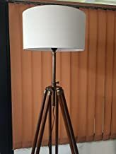 Nautical Tripod Floor Lamp - Contemporary Design for Modern Living Rooms - Soft Ambient Lighting - Made with Natural Wood