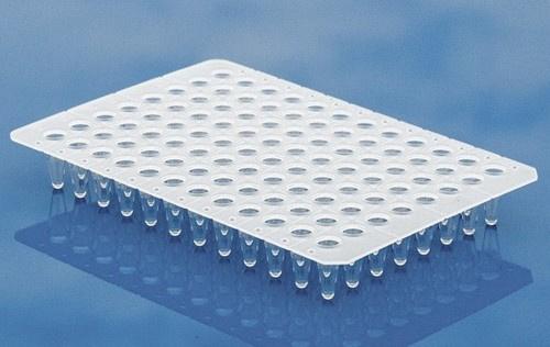 7.	Non Skirt 0.1ml (Low Profile) 96 Well PCR Plates in Natural Color