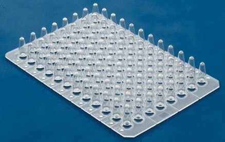 Non Skirt 0.2ml (Regular Profile) 96 Well PCR Plates in Natural Color
