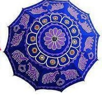 Embroidery Garden Beach Umbrella