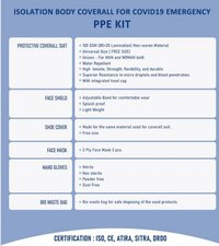 PPE Kit Model 2 ( ISO , CE , ATIRA , SITRA & DRDO Certified)