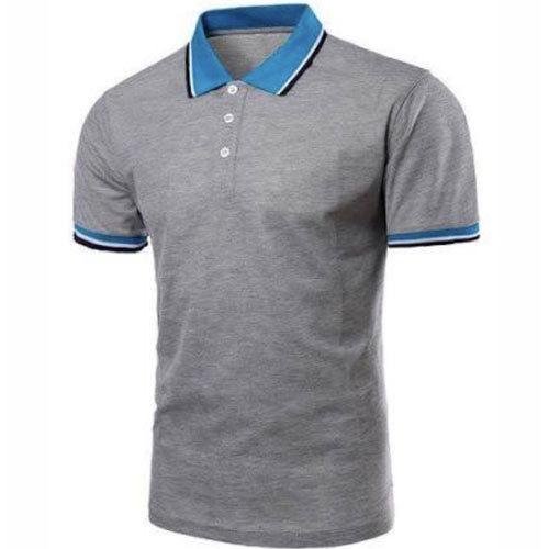 Mens Designer T Shirt with Collar