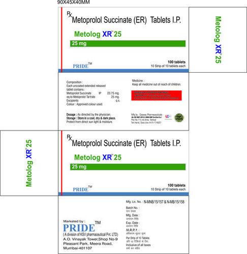 Metolog Xr 25 (Metoprolol Succinate)